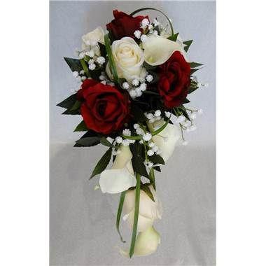 Bouquet de mariee avec roses rouges***