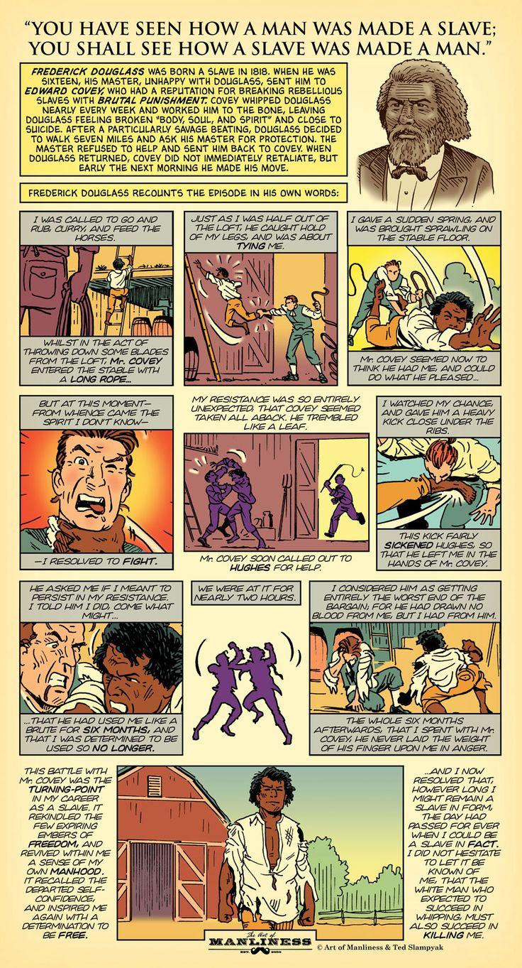 An Original AoM Comic: Frederick Douglass – How a Slave Was Made a Man