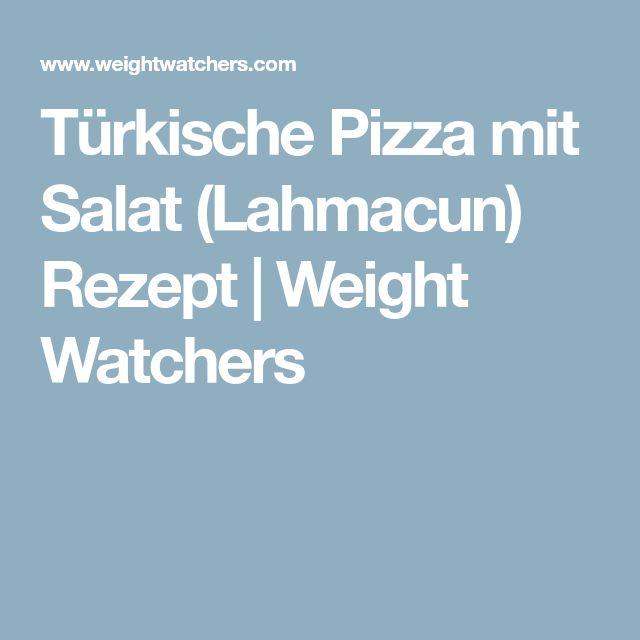 Türkische Pizza mit Salat (Lahmacun) Rezept | Weight Watchers
