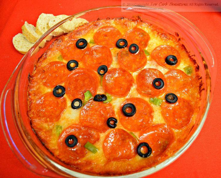 Pizza Dip ~ www.lowcarbsensations.com