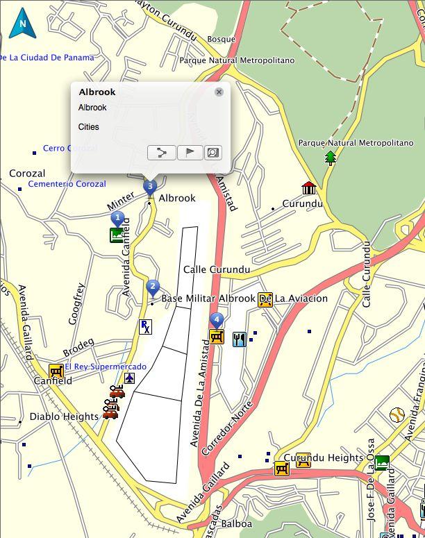 Albrook Airport Panama Garmin GPS Map Panama GPS Map