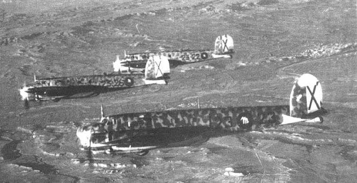 Fiat Br.20 bombers in nationalist service during the Spanish civil war, 1937.