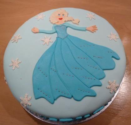 Elsa taart uit Frozen voor Ieke