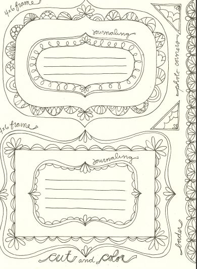 If you love the hand-drawn look of doodling, you'll enjoy using these adorable templates created by Shelley Aldridge