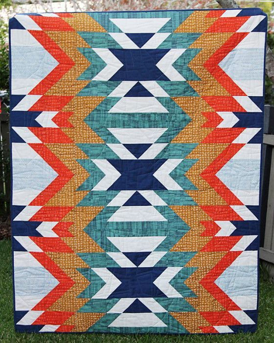 """Fun """"Go West"""" quilt by Kirsty Bonjour of Bonjour Quilts. Pattern available here: http://bonjourquilts.bigcartel.com/product/go-west"""