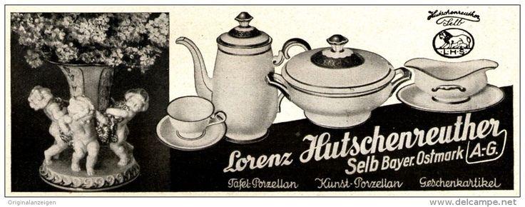 Original-Werbung/ Anzeige 1935 - LORENZ HUTSCHENREUTHER - SELB - PORZELLAN - ca. 135 x 50 mm