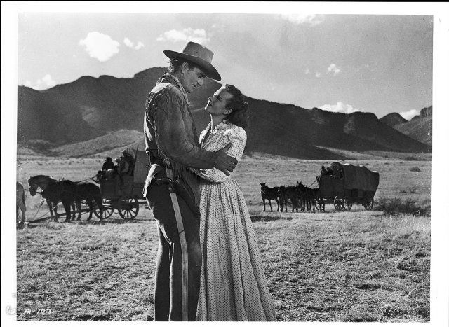 Still of John Wayne and Coleen Gray in Red River