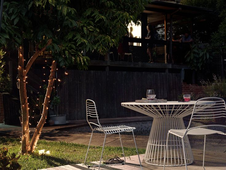 Stay Outside with Jak+Jil tables and chairs - always the last to leave