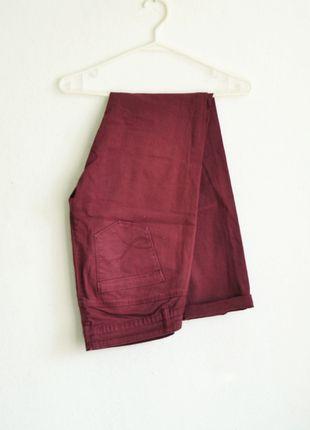 Kup mój przedmiot na #vintedpl http://www.vinted.pl/damska-odziez/rurki/7720991-spodnie-jeansy-marsala-bordowe-burgundowe-cegliste-rurki-boyfriend-vintage-m-38