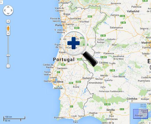 Localização da Associação de Citrinos da Pala - Ribadouro-Baião-Portugal. Mapa localização