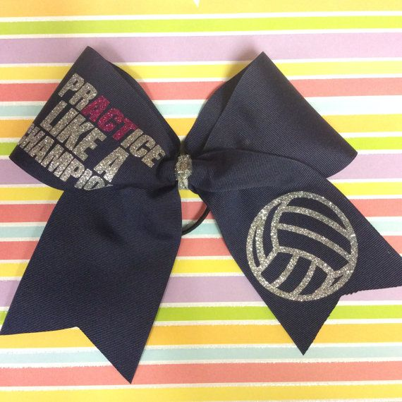 PrACTice like a champion volleyball bow by cheerblingbowtique14