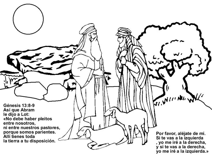 Historia De Abram Y Lot Para Colorear Dibujos Cristianos Para Bible Coloring Pages Abraham And Lot Superhero Coloring Pages