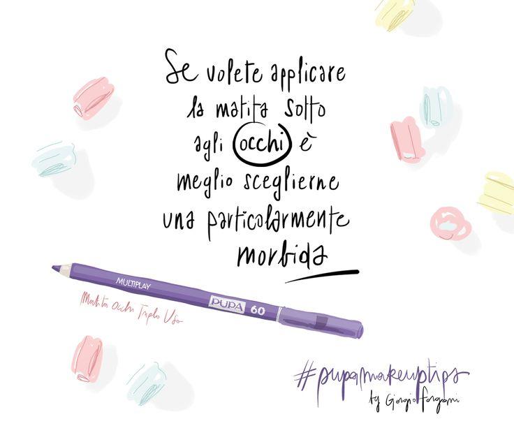 Nuovi colori per le matite occhi Multiplay, attraverso i make up tips illustrati da Silvana Mariani   Pupa Style, PUPA Milano's blog