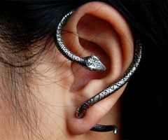 Snake ear wrap gauges - awesome earring design; now if only they could make headphones like this!