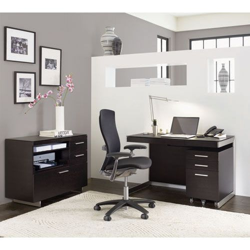 sequel 6001 black glass desk in espresso oak