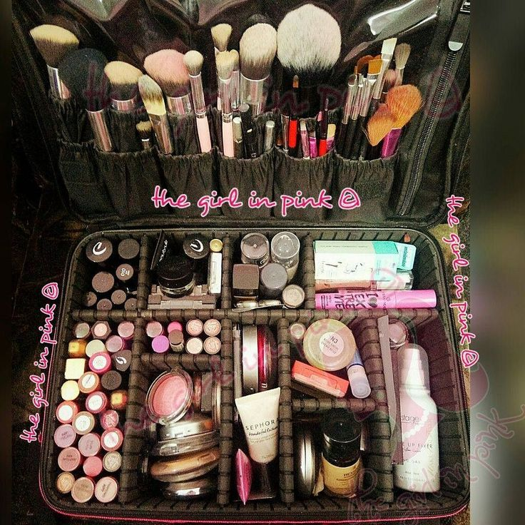 My awesome #makeup #organizer.  Which of your favorite cosmetic items can you spot in here _ #pink #brushes #cosmetics #stageline #sephora #medora #dmgm #kryolan #foundation #blending #luminous #blush #revlon #colorstay #photoready #rimmel #beautyuk #benefit #porefessional #loreal #atiqaodho #bspk #beautyblogger #myinsta #thegirlinpink21 #pakistanbeautysociety