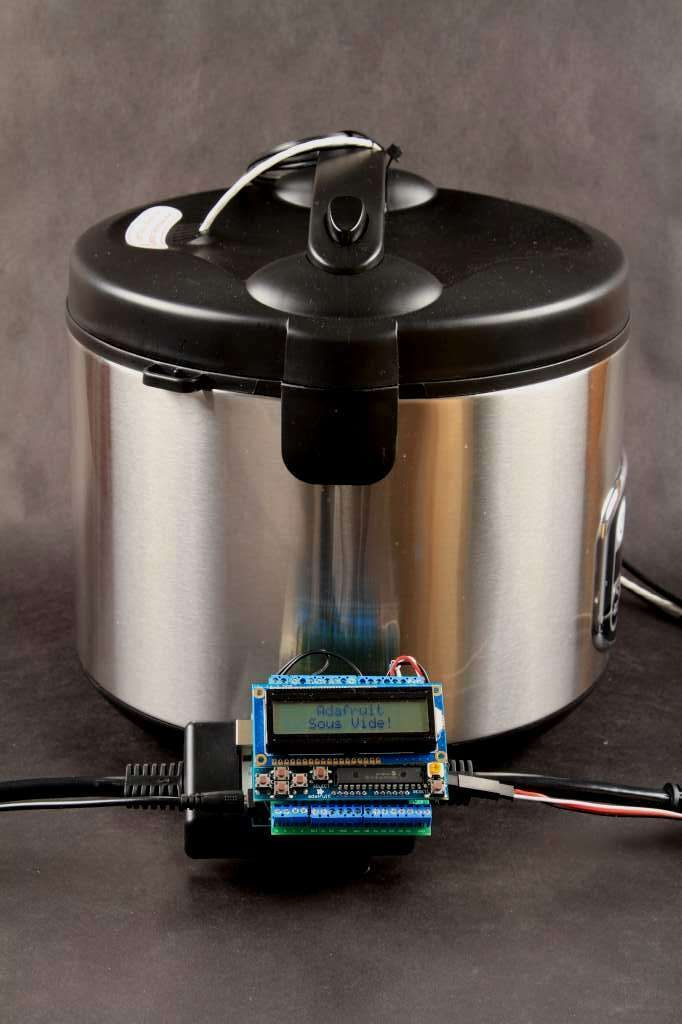 Turn Your Rice Cooker Into an Arduino-Powered, DIY Sous Vide Machine: This project turns an inexpensive rice cooker into a precision cooking instrument capable of maintaining cooking temperatures within +/-0.1 C.