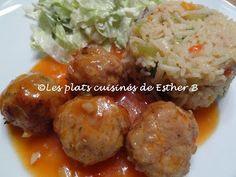 Les plats cuisinés de Esther B: Boulettes de porc et sauce aigre douce