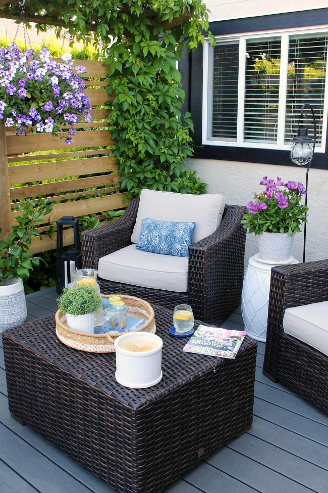 Living outdoors Decorating ideas for the summer terrace   – Patio Deko-Ideen