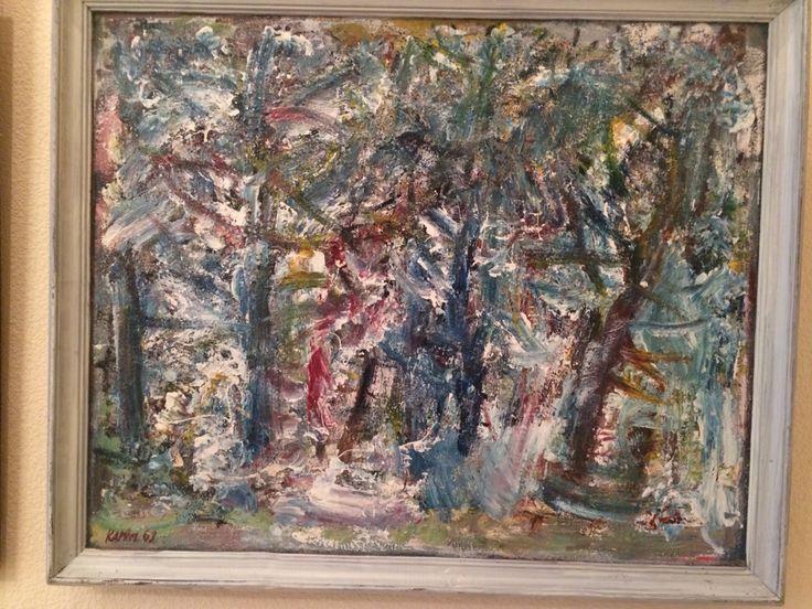 Karimullin Ravkat. Oil on canvas 100/90cm. 2003. Forest .