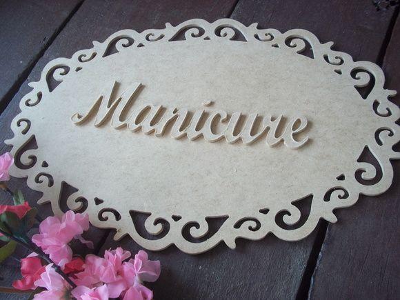 PLAQUINHA MANICURE