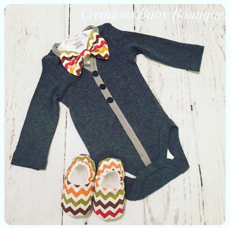 Baby boy cardigan onesies , bow tie and shoes set , thanksgiving outfit , baby boy outfit , baby boy fall outfit by CreationsBabyB on Etsy https://www.etsy.com/listing/465669184/baby-boy-cardigan-onesies-bow-tie-and