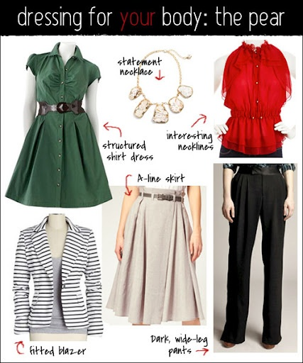 Puffy sleeves and tops that hug the shoulders or ones with wide-set straps will help to visually widen the chest and shoulders.