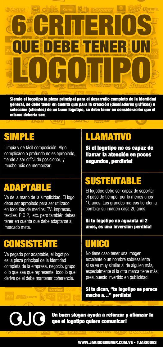 6 criterios que debe tener un buen logotipo - Blog Diseño Grafico
