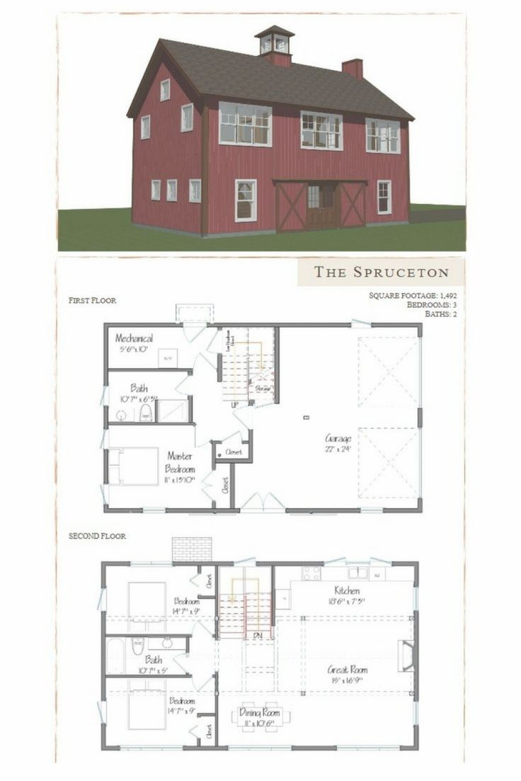 Gambrel barn house floor plans thefloors co for Gambrel barn house plans