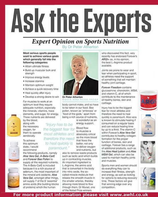 Our expert Dr Peter Atherton talks about the importance of sport nutrition and aloe