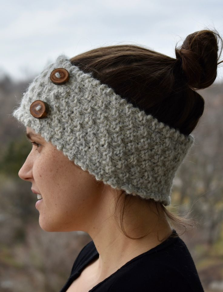 CUTE AS A BUTTON is our warmest knitted headband. Hand-knit with two yarns and an extra thick stitch, this wool headband will keep you warm all winter long. Made with 90% ethically sourced, Canadian alpaca wool and 10% bamboo and lined with 100% cotton. The buttons are repurposed and upcycled items, made with fallen tree branches by a lovely couple in Ontario. ($65 CDN).
