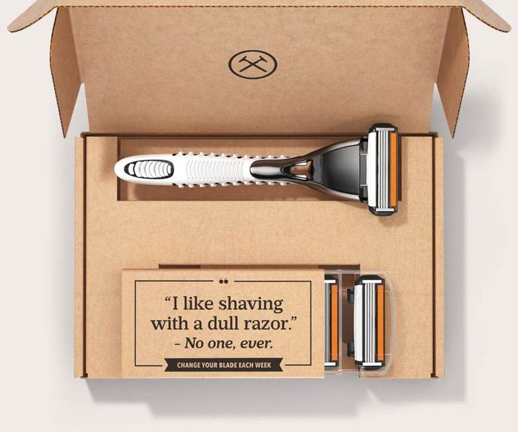 Dollar shave club is so much cheaper and more convenient than buying razors at the supermarket! Never overpay for razors again!