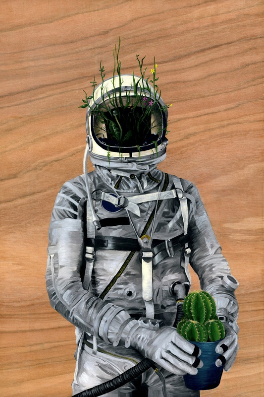 Cacti Spaceman No1 by FAMOUS WHEN DEAD (con imágenes
