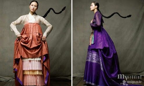 Layered Bright Hanbok