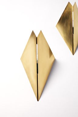 brass wall light gabriella crespi - Google Search