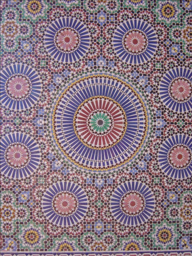 Morocco, Marrakech mossaic