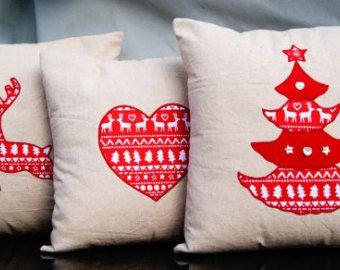 Christmas cushion covers 16'x 16' Cover X'mas pillow by FullColour
