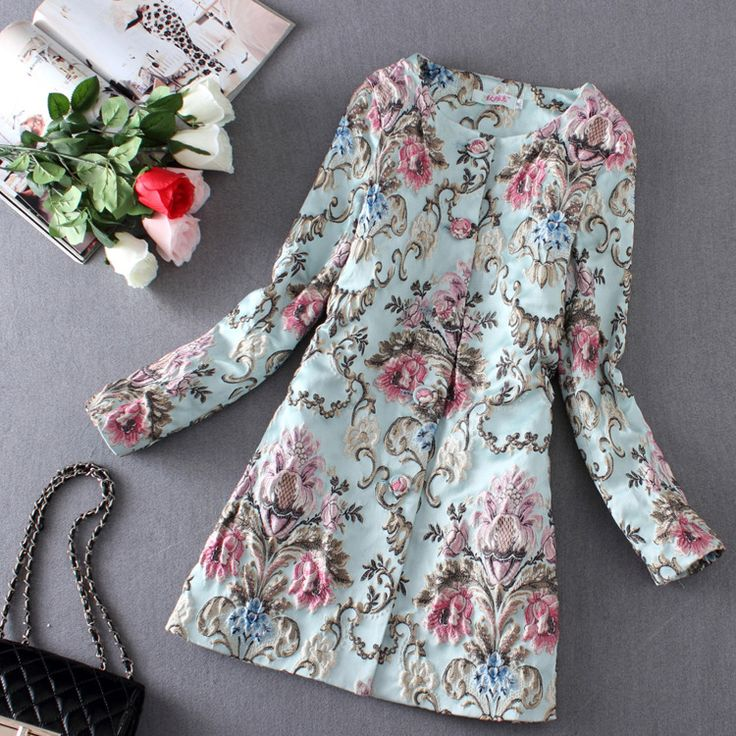 Cheap Trench, Buy Directly from China Suppliers: Product Name: 2016 Spring Jacket Coat Women 3D Flower Embroidery Trench Coat Sobretudo Feminino Casacos Women Cardigan