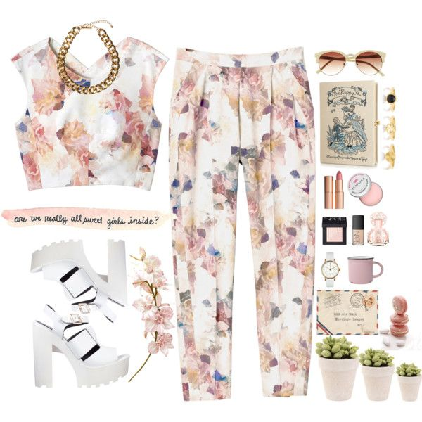 """Flowery day"" by dame-rohana-marbun on Polyvore"