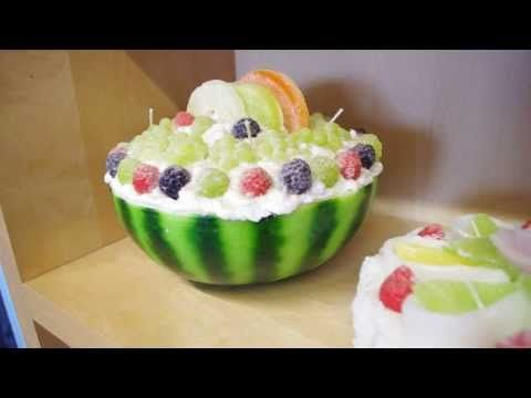 Candele a forma di dolci, torte e pasticcini - YouTube