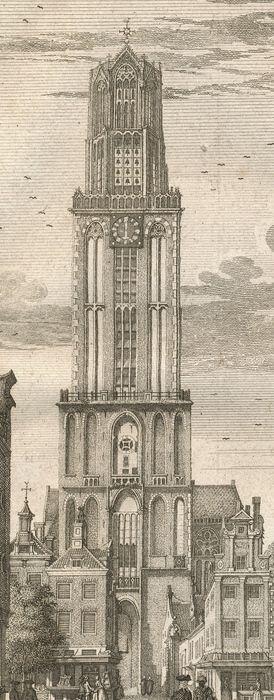 Nederland, Utrecht; Isaak Tirion - Domtoren te Utrecht - ca. 1755