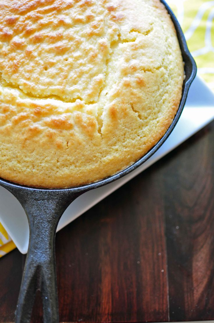 This ismy go to cornbread recipe toaccompany any soup, chili or southern meal. It has an amazing sweetness that my whole family just adores. The best way to cook cornbread is in a heavy, cast iro...