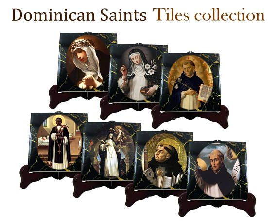 A new ceramic tiles collection - the Dominican Saints - is available in my Etsy Store: >>> https://www.etsy.com/listing/527640670 <<<  Two sizes available - ready to hang - suitable for indoor or outdoor - 100% handmade in Italy by @TerryTiles2014  You will receive 7 ceramic tiles: 1. St Agnes of Montepulciano 2. St Catherine of Siena 3. St Dominic 4. St Martin de Porres 5. St Rose of Lima 6. St Thomas Aquinas 7. St. Vincent Ferrer  #stdominic #saintdominic #dominican #dominicans #friars…