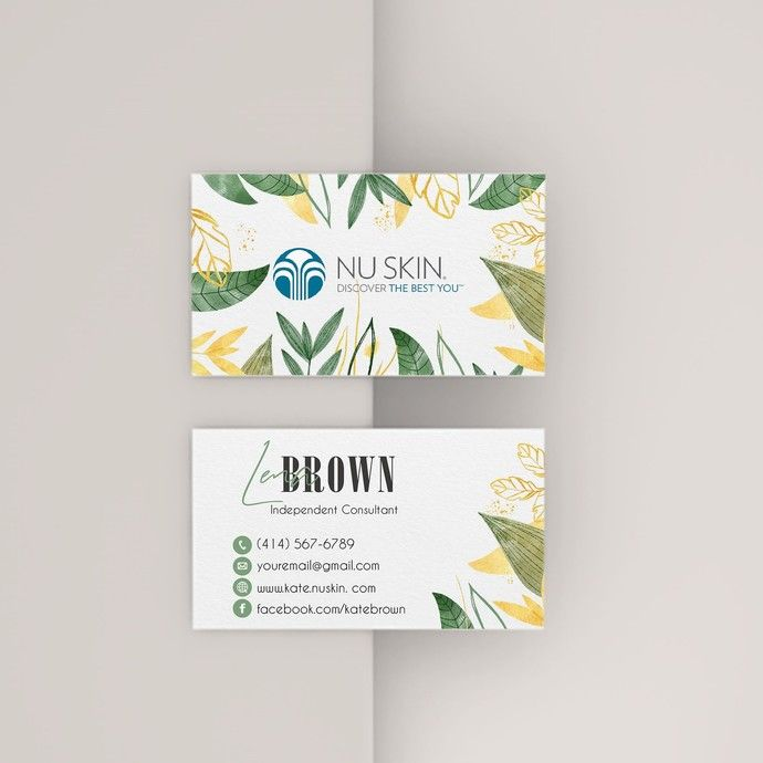 Pin On Nu Skin Business Cards