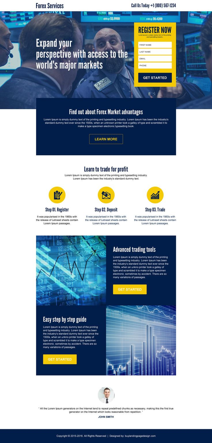 forex market access sign up lead generating landing page design