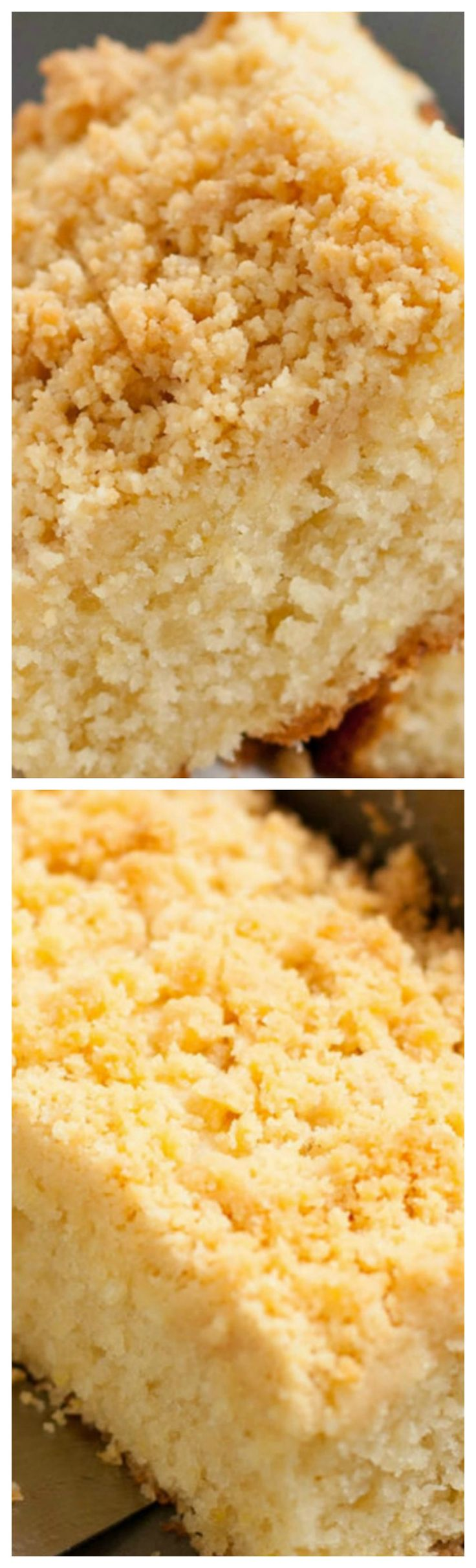 Lemon Ricotta Crumb Cake ~ The perfect marriage of fresh citrus and rich ricotta cheese, topped with a buttery shortbread cookie crumb topping!