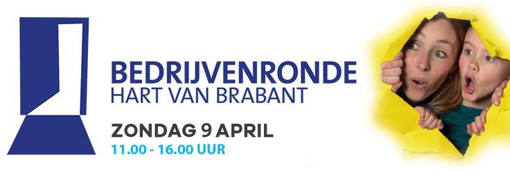 Op zondag 9 april 2017 van 11 uur tot 16 uur organiseert de Junior Kamer Hart van Brabant voor de vijfde keer op rij de Bedrijvenronde Hart van Brabant. Trotse ondernemers uit de regio Tilburg openen deze dag de deuren van hun bedrijf om jong en oud, een leuke en leerzame blik achter de schermen te geven. Gedurende deze dag kan ieder die dat wil op bezoek gaan bij de deelnemende bedrijven. Kom erachter wat er gebeurt, hoe ze hun producten maken, wie er werken en hoe ze er werken.