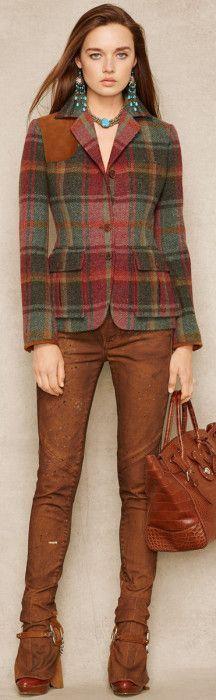 Ralph Lauren Blue Label ● Plaid Tweed Jacket