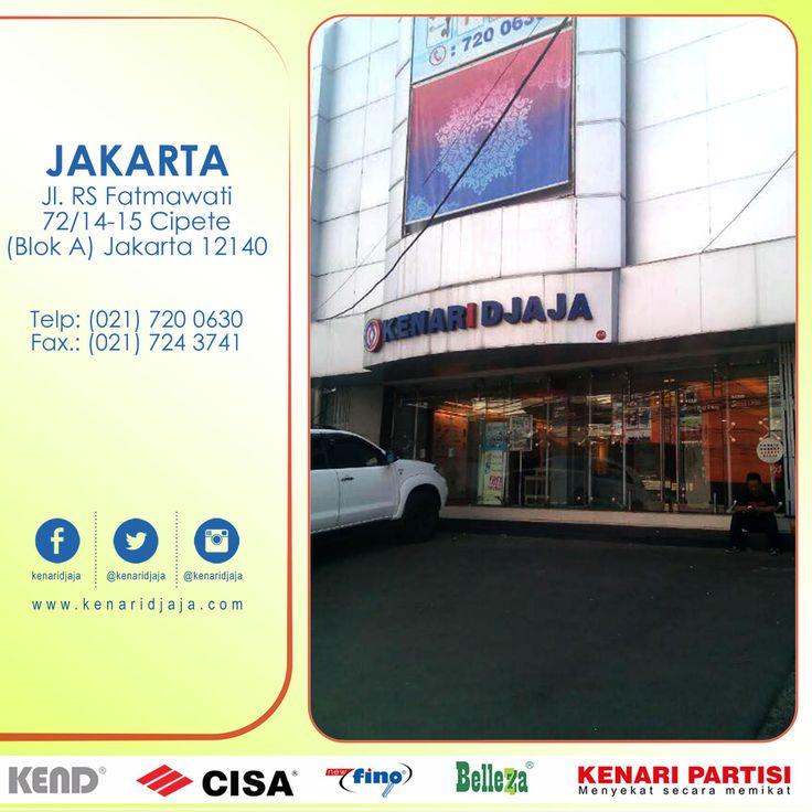 Sahabat KENARI DJAJA yang berada di JAKARTA SELATAN, Anda mencari perlengkapan pintu dan jendela ? Yuk mampir ke Showroom KENARI DJAJA ... Dapatkan discount dan penawaran menarik nya ....  kami ada di : Jl. RS. Fatmawati 72/14-15, Cipete (Blok A) Telp : (021) 720 0630, Fax : (021) 724 3741 Jakarta Selatan  [ K E N A R I D J A J A ] PELOPOR PERLENGKAPAN PINTU DAN JENDELA SEJAK TAHUN 1965  SHOWROOM :  JAKARTA & TANGERANG 1 Graha Mas Kebun Jeruk Blok C5-6 Telp : (021) 536 3506, Fax : (021) 530…