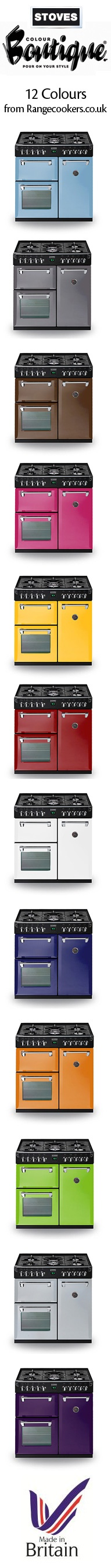 With Stoves Colour Boutique You Can Specify One Of Twelve Inspiring Shades Which Will Easily Match Small Kitchen Appliancessmall
